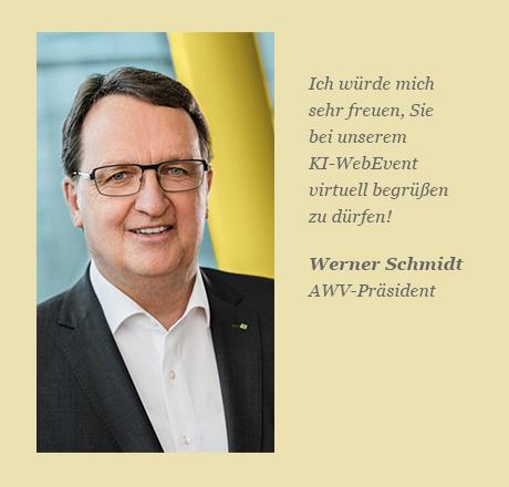 AWV-Präsident Werner Schmidt